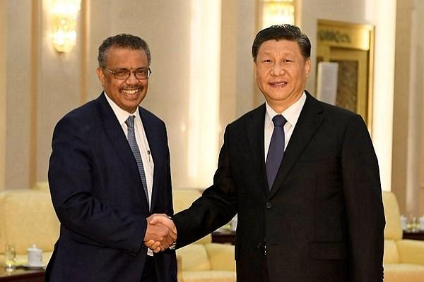 Tedros Adhanom Ghebreyesus (left) criticized for close relationship with China.