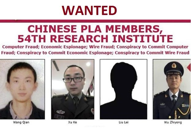 The U.S. FBI released a wanted picture of the four suspects. (FBI photo)