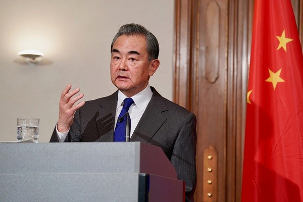 Wang Yi says China has been open and transparent.(China Ministry of Foreign Affairs photo)