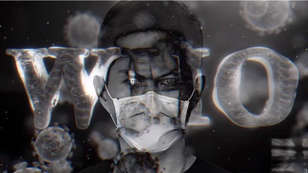 Dwagie wearing face mask. (Dwagie YouTube video screenshot)