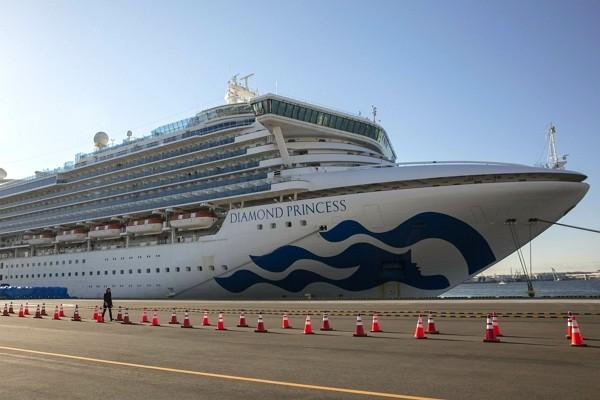 Diamond Princess cruise shipquarantined in Yokohama Harbor since Feb. 4.