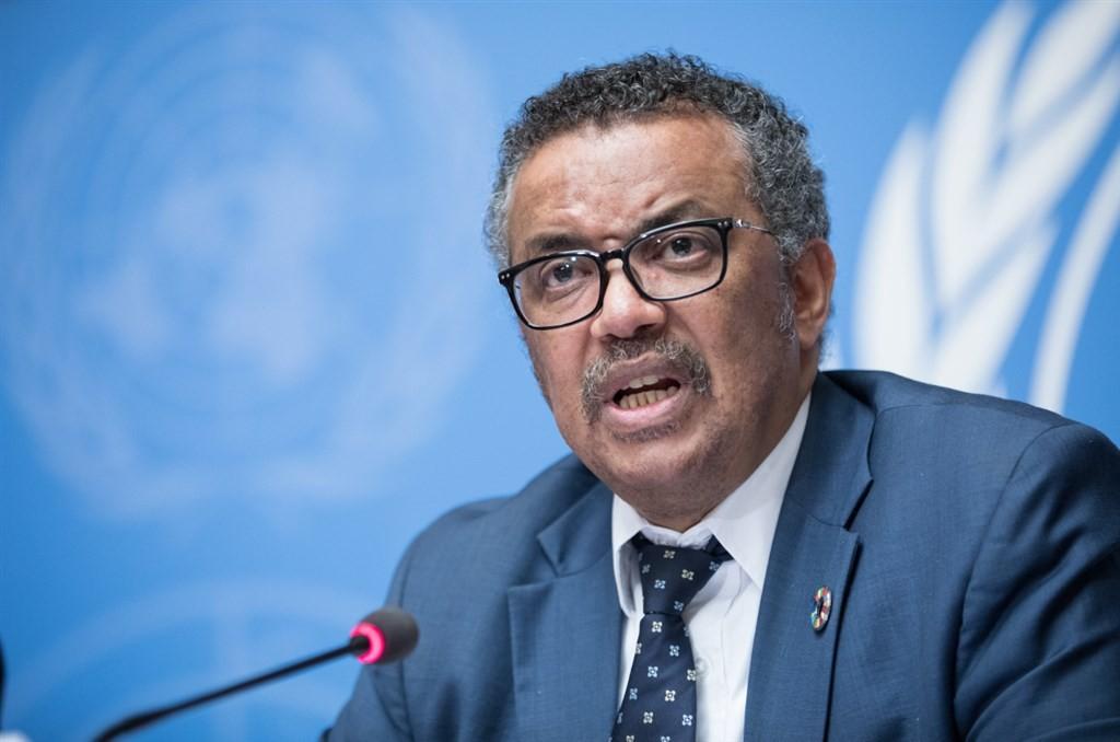 圖為世界衛生組織秘書長譚德塞。(圖取自twitter.com/UNGeneva)