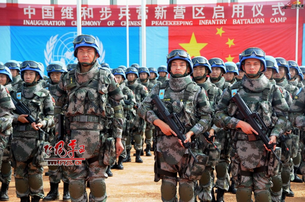 PLA blue helmet soldiers serving UN. (fyjs.cn photo)