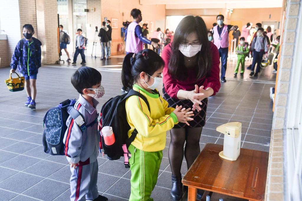 The return to school in Taiwan on Feb. 25
