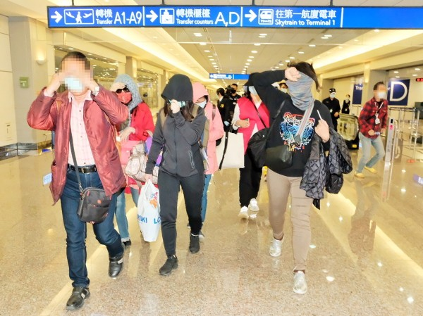11 Taiwanese tourists arriving at TPE Airport.