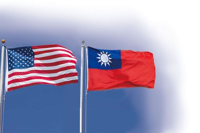 U.S. and Taiwan flags. (Taiwan Today image)