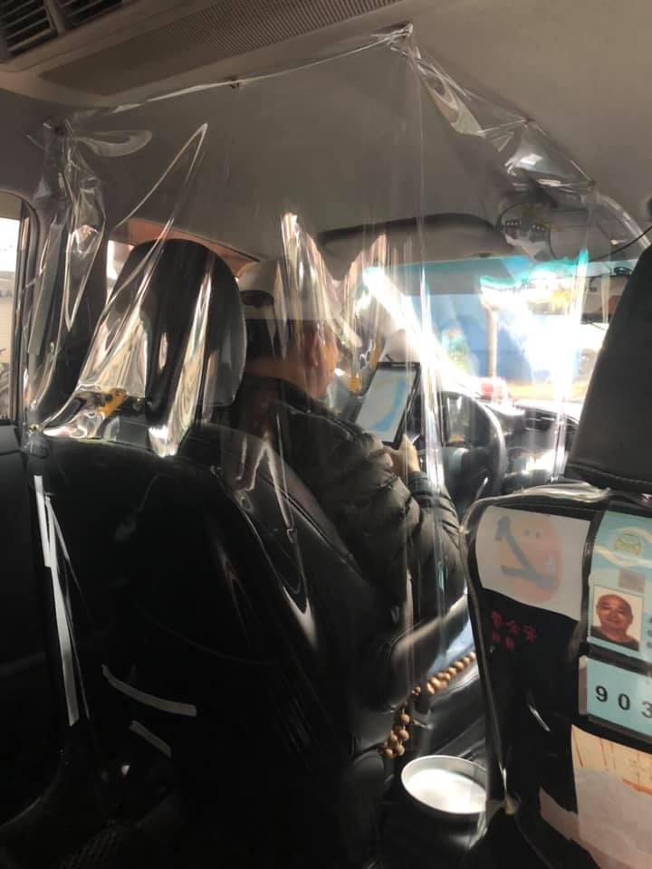 Photo of the Day: Taiwan taxi driver fights Wuhan virus with homemade barrier