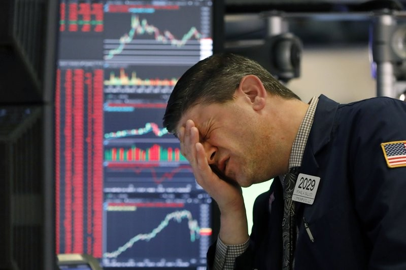 Stocks are closing sharply lower on Wall Street, erasing more than 1,400 points from the Dow industrials