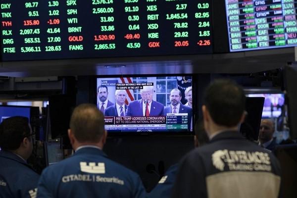 Stocks roar back on hopes for U. S. government's virus plan.