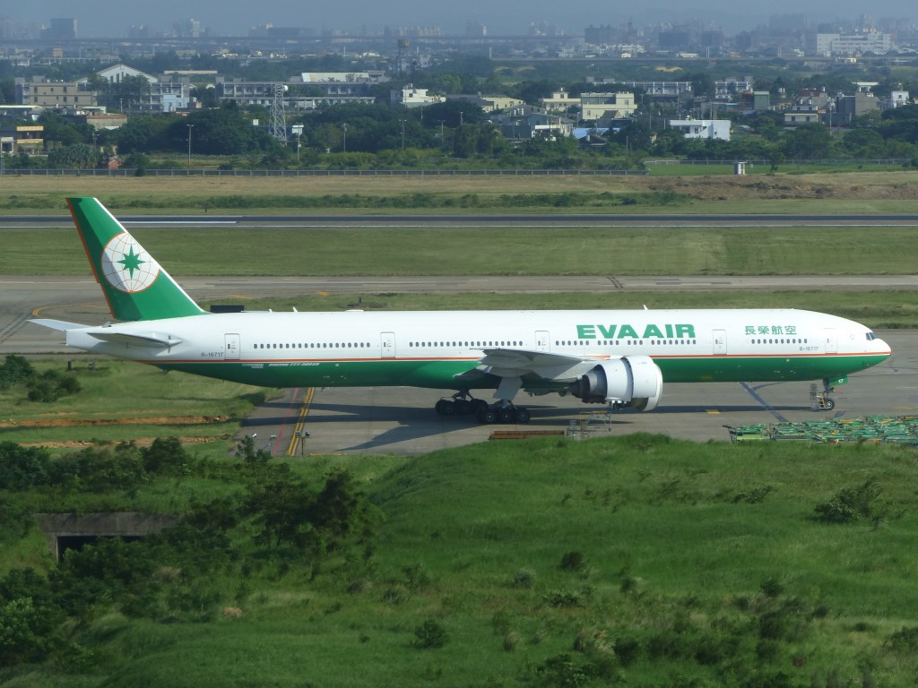 EVA Air B-16717 Parked in Taoyuan International Airport Apron.