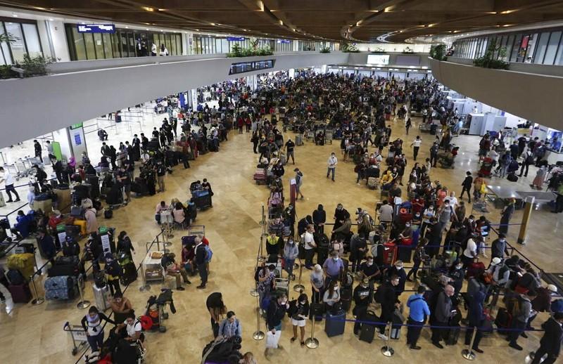 圖為17日的馬尼拉國際機場 (美聯社)