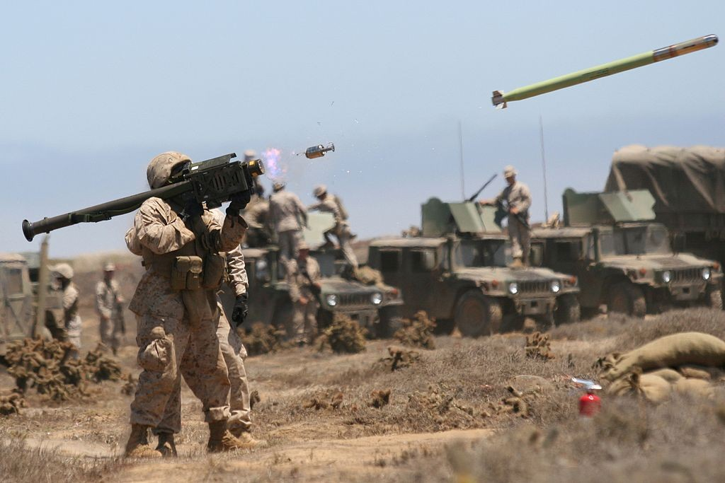 US Marines fireStinger missile during drills in California. (Christopher O'Quin/U.S. Marine Corps)