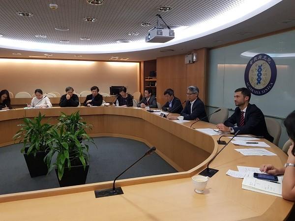 Liao,Grzegorzewski in concall with officials (Grzegorzewski Twitter photo)