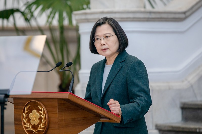 President Tsai Ing-wen. (Presidential Office photo)