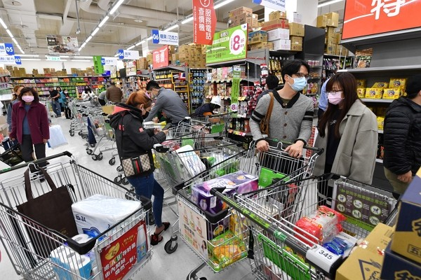 Taiwan sees signs of panic buying this week.