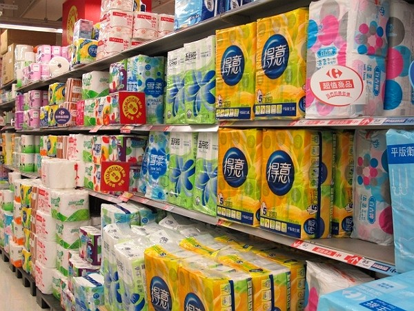 Supermarket chains are setting purchase limits on toilet paper. (Facebook photo)