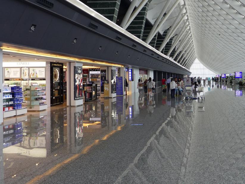 Duty-free shops at Taiwan Taoyuan International Airport.