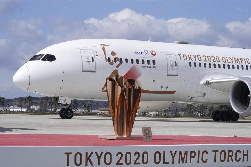 The Olympic flame arrived in Japan Friday March 20