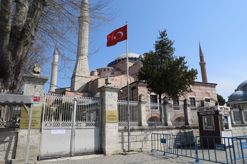 The Aya Sofia in Istanbul, closed due to the coronavirus pandemic