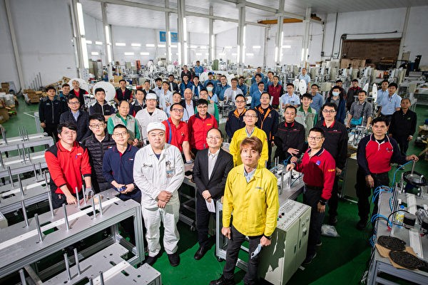 How a team of technicians is helping Taiwan triple mask production