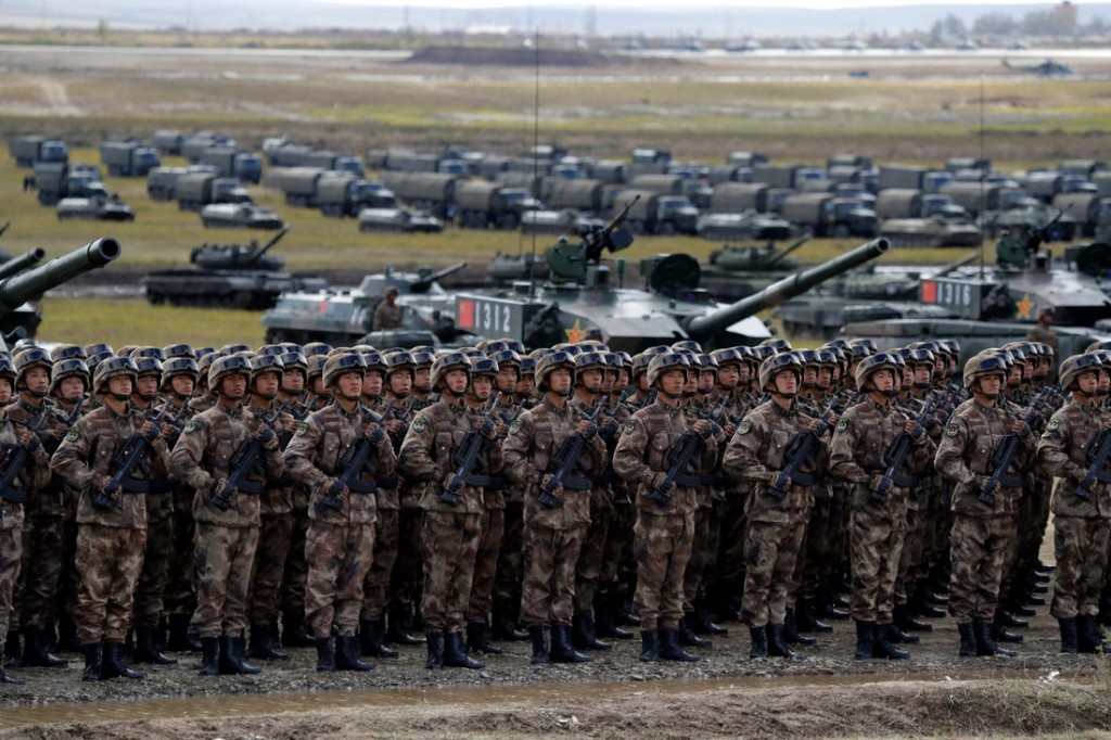 The Chinese army training in Russia in 2018