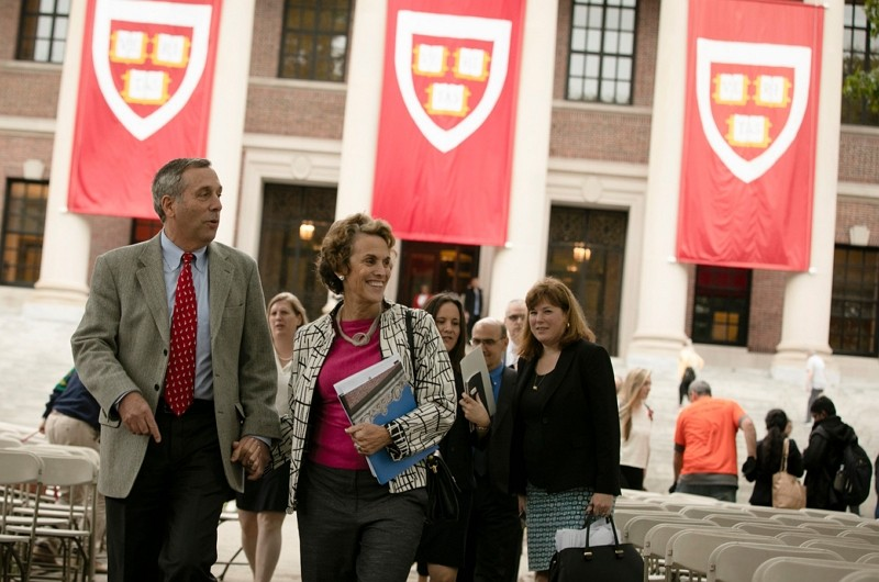 Harvard President Larry Bacow and his wife Adele Bacow. (Harvard University website photo)