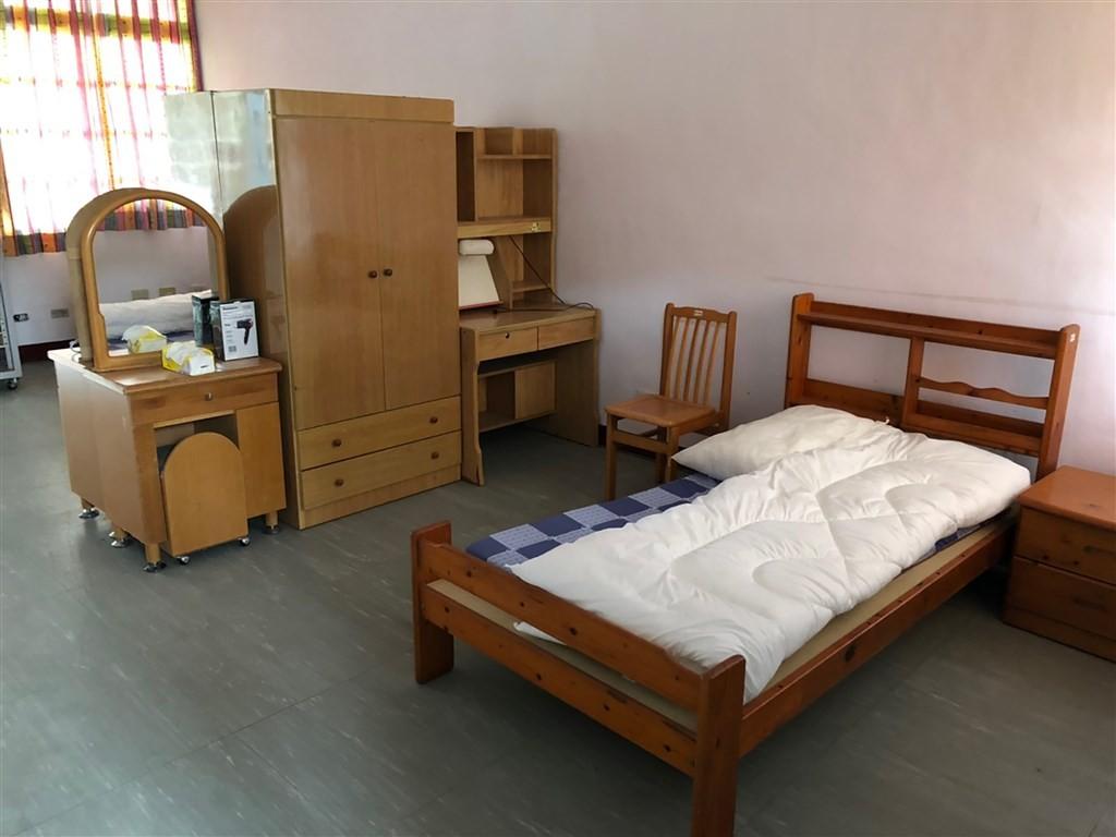 Standard Hualien quarantine center room. (Hualien County Health Bureau photo)