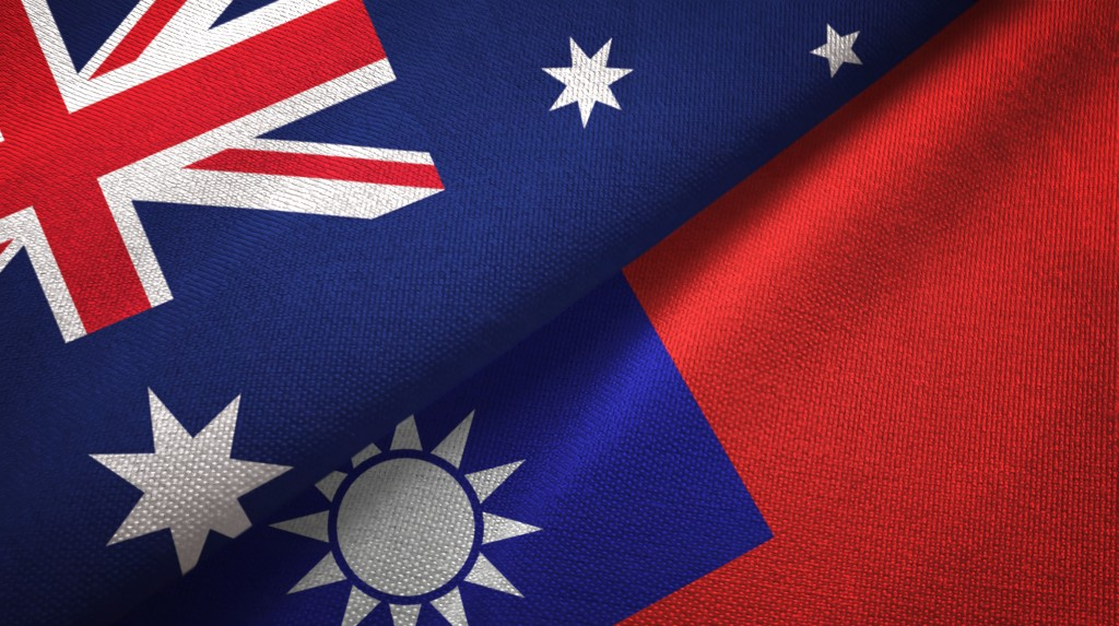 Australian and Taiwanese flags. (gettyimages)