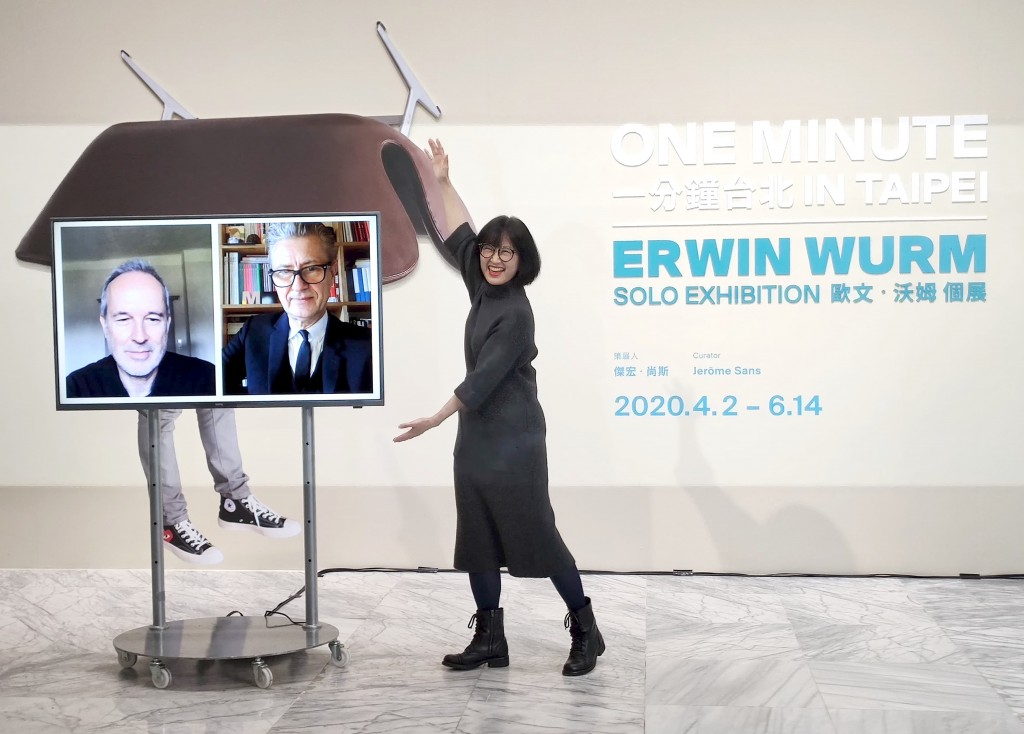 搞怪!奧地利藝術家「一分鐘雕塑」四大展區惡搞觀眾 台灣北美館征服台北101