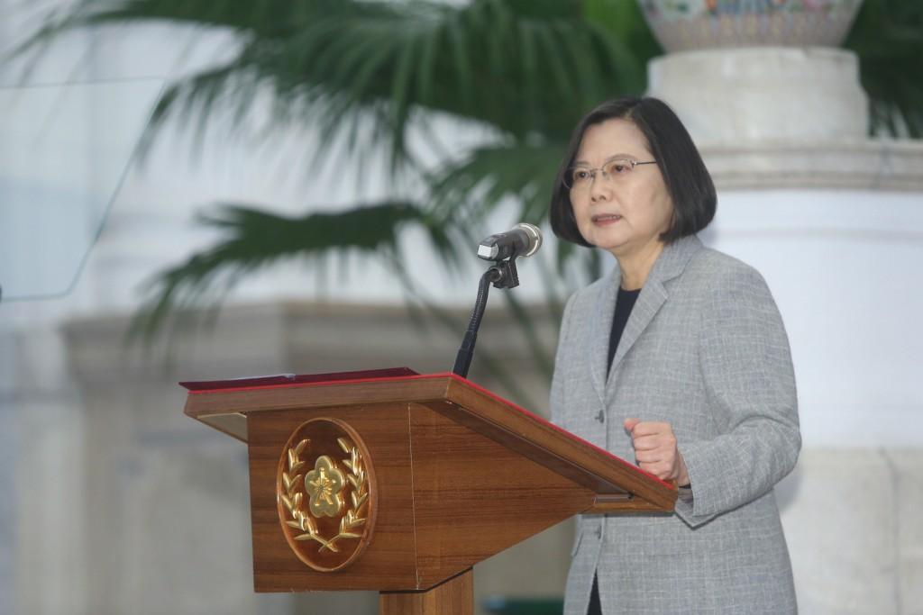 President Tsai Ing-wen speaking Wednesday April 1