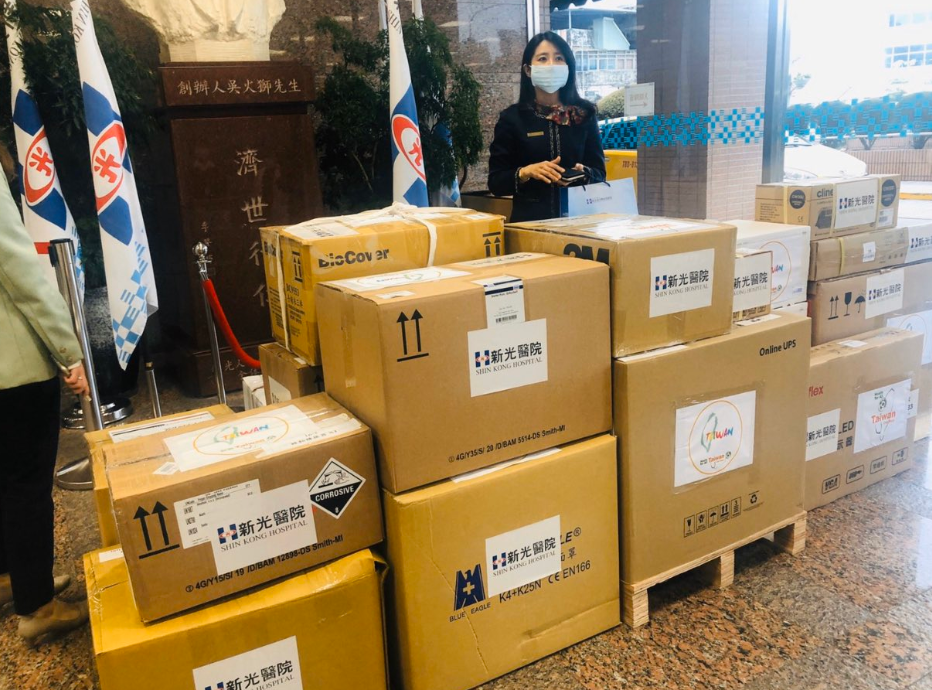 Coronavirus aid from Taiwan for Palau (screengrab from Ambassador Uludong's Twitter account)