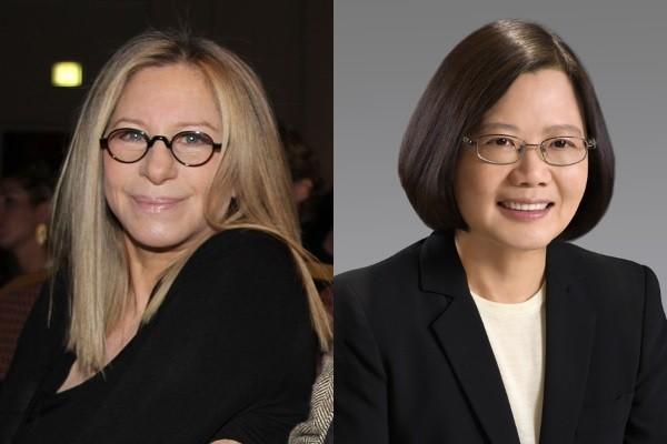 Barbara Streisand (left), Tsai Ing-wen (right).