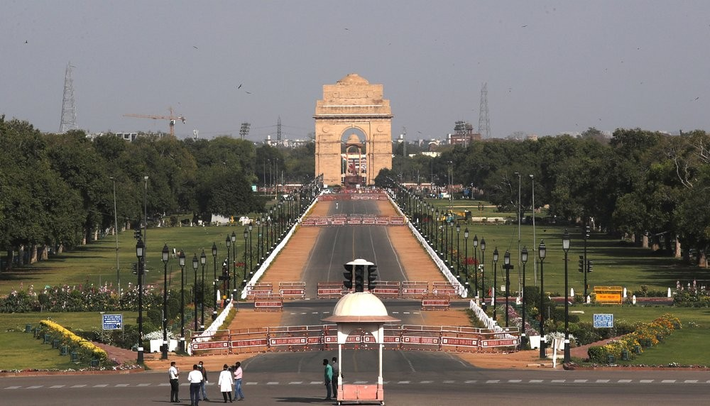 The Indian capital New Delhi during the coronavirus lockdown