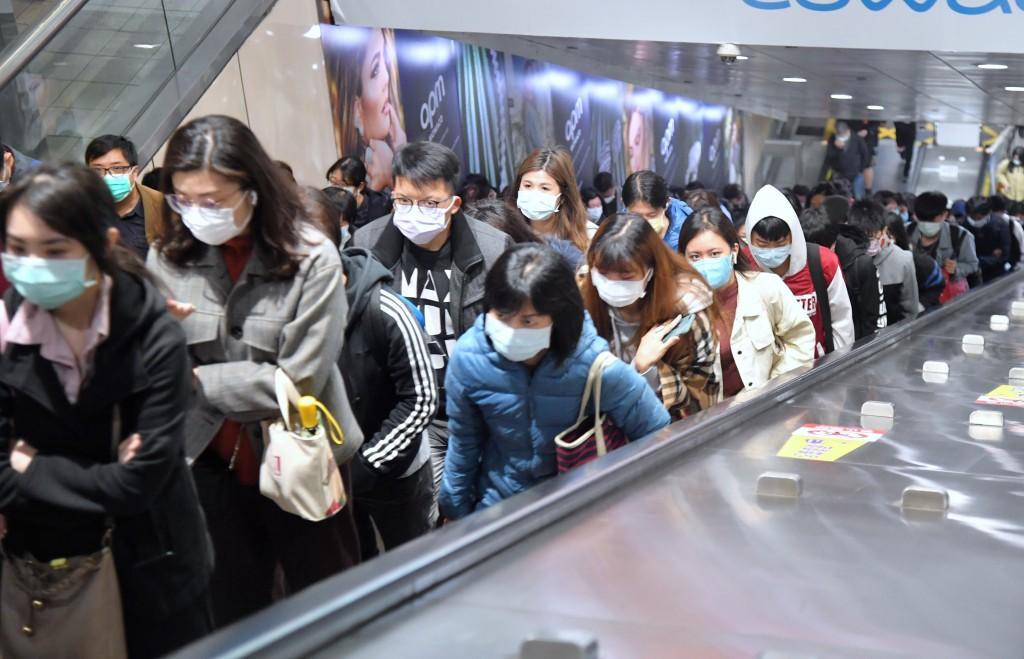Passengers at a Taipei MRT station