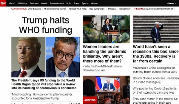 Taiwan S President Featured On Cnn Main Page For Handling Of Pandemic Taiwan News 2020 04 15