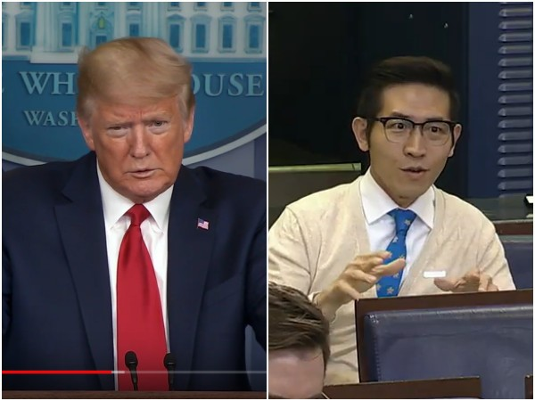 Trump (left), Chang (right). (YouTube, screenshots)