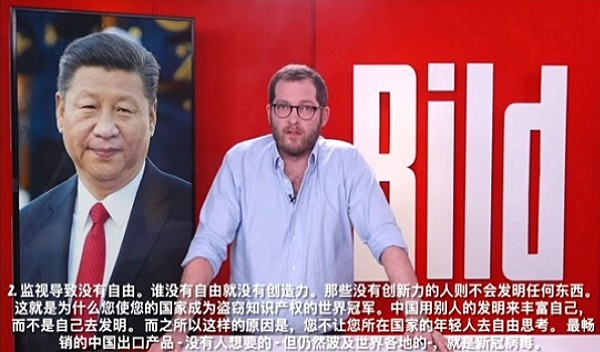 German mass daily Bild confronts Xi Jinping for trying to cover up COVID-19 information. (Youtube screengrab)