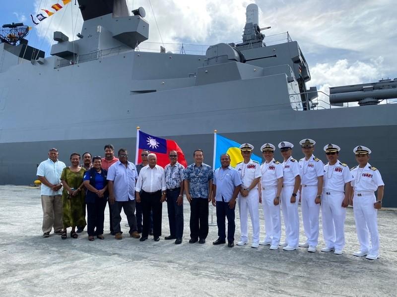 圖為敦睦艦訪問帛琉情形 (駐帛琉大使館臉書)