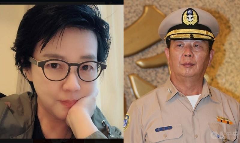 台北市副市長黃珊珊(左) 是參謀總長黃曙光(右) 的胞妹 (圖由TN合成, 取自黃珊珊臉書.中央社檔案照片)
