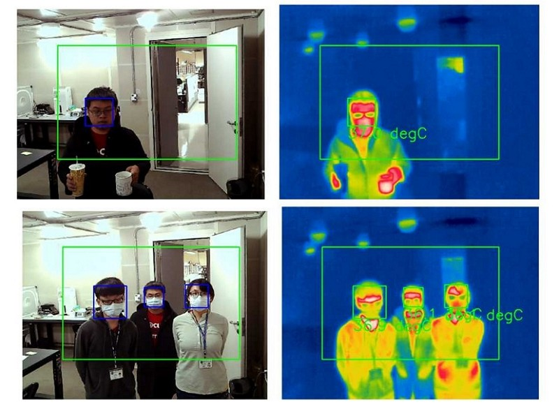 Taiwan develops AI infrared thermometer. (NHRI image)