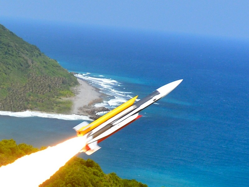 Hsiung Feng III medium-range supersonic missile (National Chung-Shan Institute of Science and Technology photo)