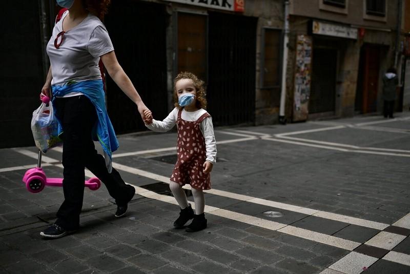 武漢肺炎疫情下的西班牙街頭(圖片:美聯社)