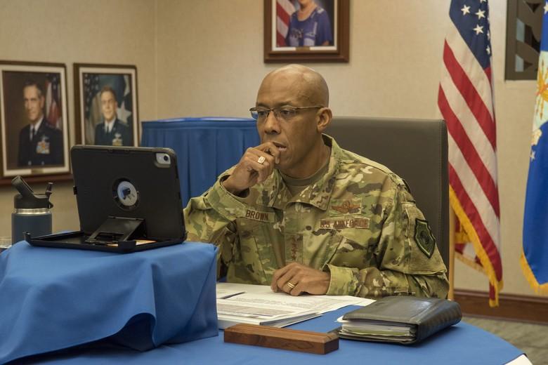 U.S. Pacific Air Forces commander Gen. CQ Brown, Jr.(U.S. Air Force photo by Staff Sgt. Mikaley Kline)