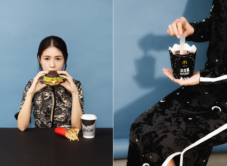 麥當勞最新時尚「極黑浪潮」由時裝品牌APUJAN操刀設計(圖/品牌提供)