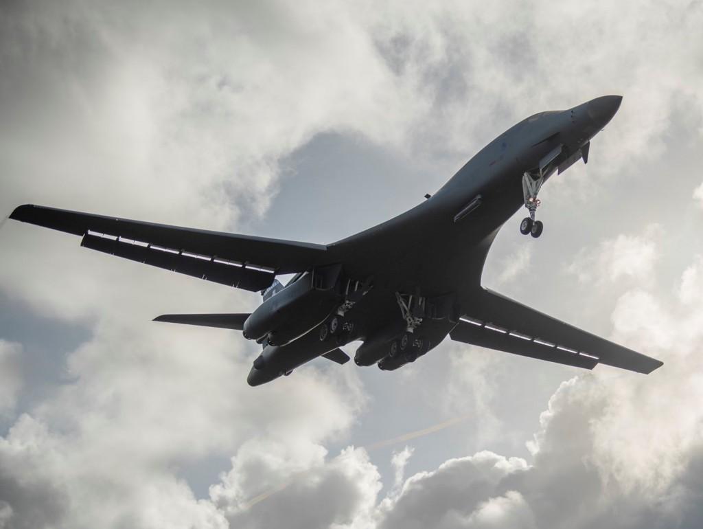 美軍B-1B超音速轟炸機示意圖(照片來源:Twitter, Aircraft Spots)