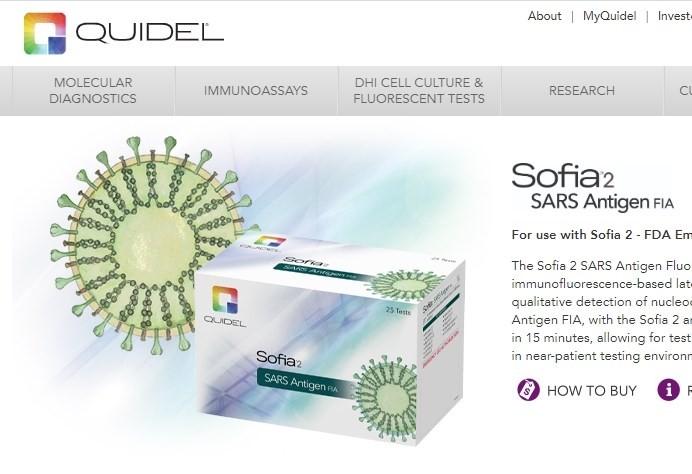 圖取自Quidel Corp.網頁quidel.com