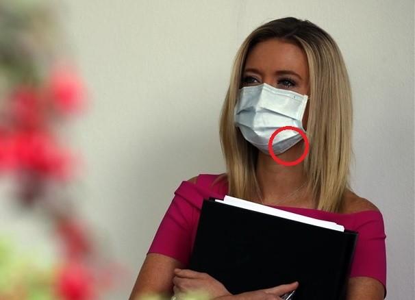 Kayleigh McEnany wearing Taiwan-made mask.
