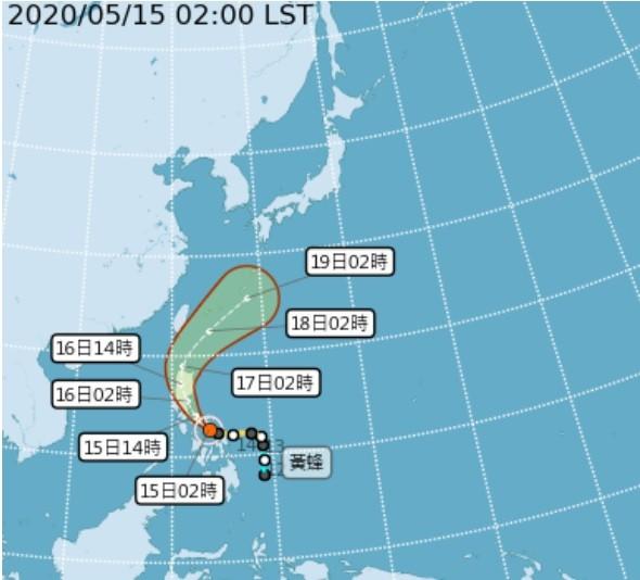 台灣氣象局解除「黃蜂」颱風海上警報 梅雨鋒面影響、19至23日全台應防局部豪大雨