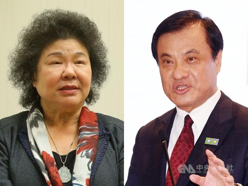 左為陳菊,右為蘇嘉全 (中央社檔案照片)