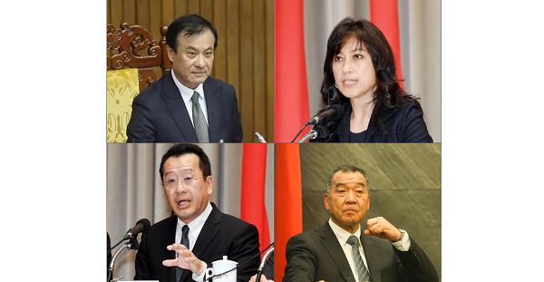 Su (top left), Koo (bottom left), Yotaka (top right),Chiu (bottom right)